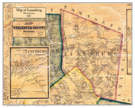 Lunenburg Poster Map, 1857 Worcester Co. MA