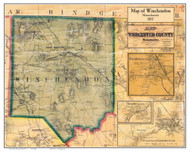 Winchendon Poster Map, 1857 Worcester Co. MA