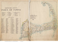 Barnstable County, Massachusetts 1910 - County Atlas