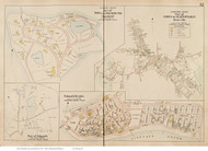 Osterville, Chapoquit & Falmouth Heights - Barnstable, Massachusetts 1910 Old Town Map Reprint - Barnstable Co.