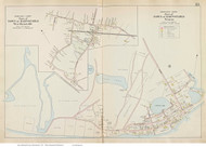West Barnstable & Wianno, Massachusetts 1910 Old Town Map Reprint - Barnstable Co.