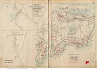 Town of Barnstable, Marstons Mills & Santuit Village, Massachusetts 1910 Old Town Map Reprint - Barnstable Co.