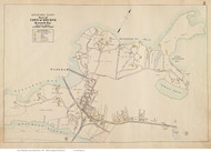 Buzzards Bay - Bourne, Massachusetts 1910 Old Town Map Reprint - Barnstable Co.