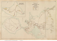 Cataumet & Amrita Island - Bourne, Massachusetts 1910 Old Town Map Reprint - Barnstable Co.