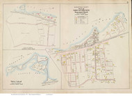 Monument Beach & Tobey Island - Bourne, Massachusetts 1910 Old Town Map Reprint - Barnstable Co.