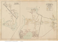 Pocasset & Gray Gables - Bourne, Massachusetts 1910 Old Town Map Reprint - Barnstable Co.