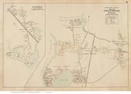 Pocasset & Gray Gables - Bourne, Massachusetts 1910 Old Town Map Reprint - Barnstable Co.