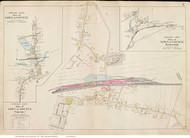 Sagamore & Bournedale - Bourne, Massachusetts 1910 Old Town Map Reprint - Barnstable Co.