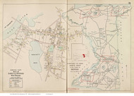 Town of Dennis & West Dennis, Massachusetts 1910 Old Town Map Reprint - Barnstable Co.