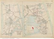 Towns of Eastham & Wellfleet, Massachusetts 1910 Old Town Map Reprint - Barnstable Co.