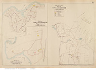 Sippewisset - Falmouth, Massachusetts 1910 Old Town Map Reprint - Barnstable Co.