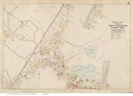 Falmouth Village, Massachusetts 1910 Old Town Map Reprint - Barnstable Co.
