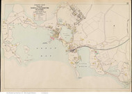 Woods Hole - Falmouth, Massachusetts 1910 Old Town Map Reprint - Barnstable Co.