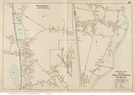 Harwich Center & West Harwich, Massachusetts 1910 Old Town Map Reprint - Barnstable Co.