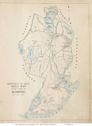 Town of Mashpee, Massachusetts 1910 Old Town Map Reprint - Barnstable Co.