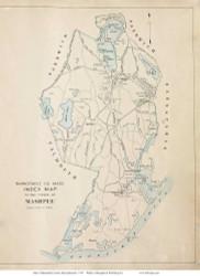Town of Mashpee, Massachusetts 1910 Old Town Map Reprint - Barnstable Co.