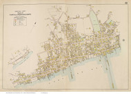 Western Provincetown Village, Massachusetts 1910 Old Town Map Reprint - Barnstable Co.