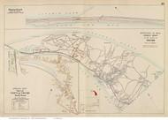 Town of Truro, North Truro & Pilgrim Beach, Massachusetts 1910 Old Town Map Reprint - Barnstable Co.