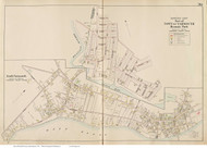 Hyannis Park & South Yarmouth, Massachusetts 1910 Old Town Map Reprint - Barnstable Co.