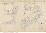 Town of Yarmouth & Englewood Beach, Massachusetts 1910 Old Town Map Reprint - Barnstable Co.