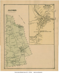 Alford & North Becket, Massachusetts 1876 Old Town Map Reprint - Berkshire Co.
