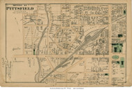 Southern Section of Pittsfield City, Massachusetts 1876 Old Town Map Reprint - Berkshire Co.
