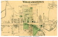 Downtown Williamstown, Massachusetts 1876 Old Town Map Reprint - Berkshire Co.