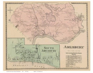 Amesbury, South Amesbury, Massachusetts 1872 Old Town Map Reprint - Essex Co.