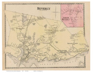 Beverly, North Beverly, Massachusetts 1872 Old Town Map Reprint - Essex Co.