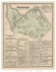 Bradford, Massachusetts 1872 Old Town Map Reprint - Essex Co.