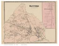 Danvers, Putnumville, Massachusetts 1872 Old Town Map Reprint - Essex Co.