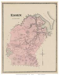 Essex, Massachusetts 1872 Old Town Map Reprint - Essex Co.