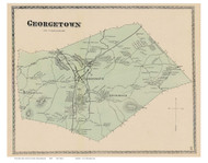 Georgetown, Massachusetts 1872 Old Town Map Reprint - Essex Co.