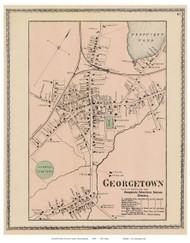 Georgetown Village, Massachusetts 1872 Old Town Map Reprint - Essex Co.