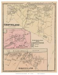 Groveland, So. Groveland, Groveland Village, Massachusetts 1872 Old Town Map Reprint - Essex Co.