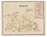 Hamilton, Hamilton Village, Massachusetts 1872 Old Town Map Reprint - Essex Co.