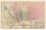 North Lawrence, Massachusetts 1872 Old Town Map Reprint - Essex Co.