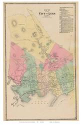 Lynn, Massachusetts 1872 Old Town Map Reprint - Essex Co.
