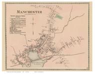 Manchester Village, Massachusetts 1872 Old Town Map Reprint - Essex Co.