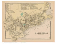 Marblehead Village, Massachusetts 1872 Old Town Map Reprint - Essex Co.