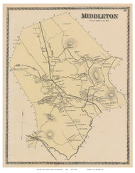 Middletown, Massachusetts 1872 Old Town Map Reprint - Essex Co.