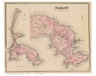 Nahant, Massachusetts 1872 Old Town Map Reprint - Essex Co.