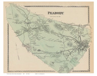 Peabody, Massachusetts 1872 Old Town Map Reprint - Essex Co.