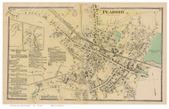 Peabody Village, Massachusetts 1872 Old Town Map Reprint - Essex Co.