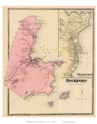 Rockport, Pigeon Cove, Massachusetts 1872 Old Town Map Reprint - Essex Co.