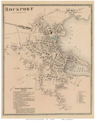 Rockport Village, Massachusetts 1872 Old Town Map Reprint - Essex Co.