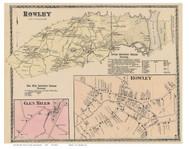 Rowley, Rowley Village, Glen Mills, Massachusetts 1872 Old Town Map Reprint - Essex Co.