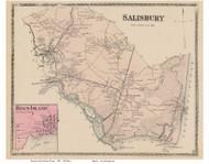 Salisbury Point, Rings Island, Massachusetts 1872 Old Town Map Reprint - Essex Co.