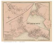 Swampscott Village, Massachusetts 1872 Old Town Map Reprint - Essex Co.