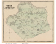 West Newbury, Massachusetts 1872 Old Town Map Reprint - Essex Co.